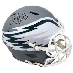 Brian Dawkins Signed Philadelphia Eagles Full-Size AMP Alternate Speed Helmet (Schwartz COA)