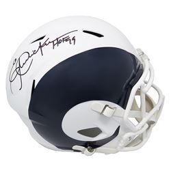 "Eric Dickerson Signed Los Angeles Rams Full-Size AMP Alternate Speed Helmet Inscribed ""HOF 99"" (Schw"