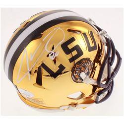 Jarvis Landry Signed LSU Tigers Chrome Speed Mini Helmet (JSA COA)