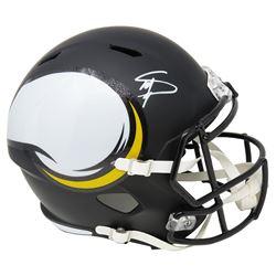 Stefon Diggs Signed Minnesota Vikings Full-Size AMP Alternate Speed Helmet (Schwartz COA)