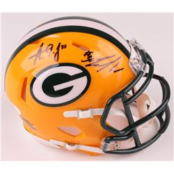 Jamaal Williams  Aaron Jones Signed Green Bay Packers Speed Mini Helmet (JSA COA)