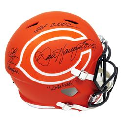"""Dan Hampton Signed Chicago Bears Full-Size AMP Alternate Speed Helmet Inscribed """"HOF 2002"""", """"SB XX C"""