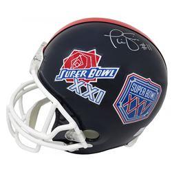 "Phil Simms Signed New York Giants ""Super Bowl XXI  XXV"" Full-Size Throwback Helmet (Schwartz COA)"