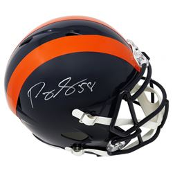 "Roquan Smith Signed Chicago Bears ""1936 Throwback"" Speed Helmet (Schwartz COA)"