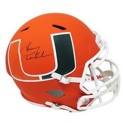 Vinny Testaverde Signed Miami Hurricanes Full-Size AMP Alternate Speed Helmet (Schwartz COA)