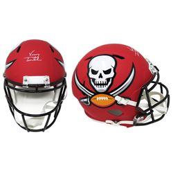 Vinny Testaverde Signed Tampa Bay Buccaneers Full-Size AMP Alternate Speed Helmet (Schwartz COA)