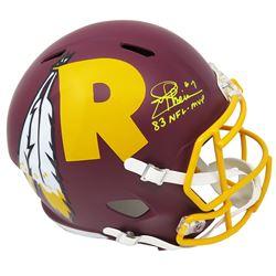 "Joe Theismann Signed Washington Redskins Full-Size AMP Alternate Speed Helmet Inscribed ""83 NFL-MVP"""