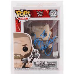 "Triple H Signed ""WWE"" Skull King #52 Funko Pop Vinyl Figure (Beckett COA)"