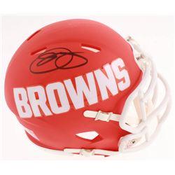 Odell Beckham Jr. Signed Cleveland Browns AMP Alternate Speed Mini Helmet (JSA COA)