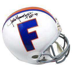 "Jack Youngblood Signed Florida Gators Full-Size Throwback Helmet Inscribed ""CHF 92"" (Schwartz COA)"
