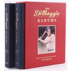 "Joe DiMaggio Signed ""The DiMaggio Albums: Volumes 1  2"" Hardcover Book Set Sleeve (Beckett LOA)"