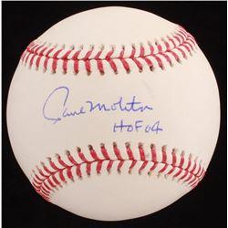 "Paul Molitor Signed OML Baseball Inscribed ""HOF 04"" (Beckett COA)"
