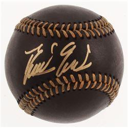 Domingo German Signed Black Leather OML Baseball (JSA COA)