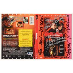 """""""A Nightmare On Elm Street"""" DVD Cover Page Signed by (5) with Robert Englund, John Saxon, Heather La"""
