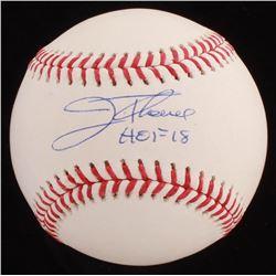 """Jim Thome Signed OML Baseball Inscribed """"HOF 18"""" (Beckett COA)"""