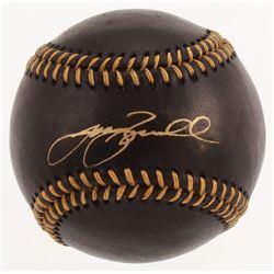 Jeff Bagwell Signed Black Leather OML Baseball (Beckett COA)