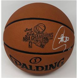 """Stephen Curry Signed """"Back-to-Back NBA Champions"""" LE Official NBA Game Ball Basketball (Steiner COA)"""