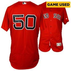 """Mookie Betts Signed Boston Red Sox Game-Used Jersey Inscribed """"Game Used 6-17-16"""" (Fanatics Hologram"""