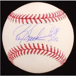 """Barry Larkin Signed OML Baseball Inscribed """"HOF 2012"""" (Beckett COA)"""