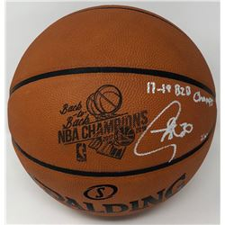 """Stephen Curry Signed """"Back-to-Back NBA Champions"""" LE Official NBA Game Ball Basketball Inscribed """"17"""