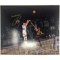 """Stephen Curry Signed Golden State Warriors 20x24 LE Photo Inscribed """"2018 NBA Champs"""" (Steiner COA)"""
