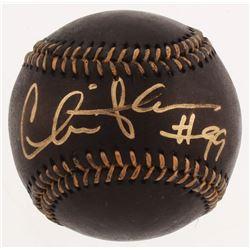 Charlie Sheen Signed Black Leather OML Baseball (Beckett COA)
