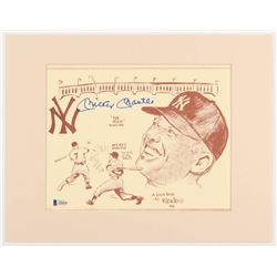 Mickey Mantle Signed New York Yankees 11x14 Custom Matted Print Display (Beckett LOA)