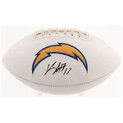Keenan Allen Signed Los Angeles Chargers Logo Football (Beckett COA)
