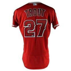 """Mike Trout Signed Los Angeles Angels LE Jersey Inscribed """"16 MVP"""" (MLB Hologram  Steiner COA)"""
