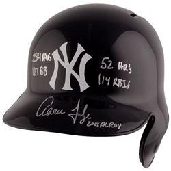 "Aaron Judge Signed New York Yankees Full-Size Batting Helmet Inscribed ""2017 AL ROY"", "".284"", ""114 R"