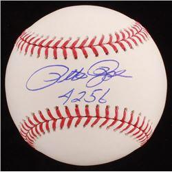 "Pete Rose Signed OML Baseball Inscribed ""4256"" (Fiterman Sports Hologram)"