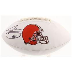 Jarvis Landry Signed Cleveland Browns Logo Football (JSA COA)