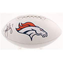 John Elway Signed Denver Broncos Logo Football (Beckett COA)