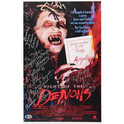 """Night of the Demons"" 11x17 Movie Poster Print Signed by (4) with Alvin Alexis, Allison Barron, Jill"