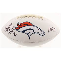 "Champ Bailey Signed Denver Broncos Logo Football Inscribed ""HOF 19"" (Beckett COA)"
