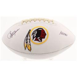 Sonny Jurgensen Signed Washington Redskins Logo Football Inscribed  HOF 83  (JSA COA)