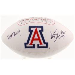 "KaDeem Carey Signed Arizona Wildcats Logo Football Inscribed ""Bear Down!"" (JSA COA)"