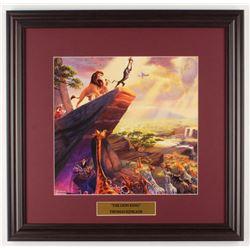 Thomas Kinkade Walt Disney's  The Lion King  18x18.5 Custom Framed Print Display