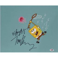 Tom Kenny Signed  SpongeBob SquarePants  11x14 Photo Inscribed  SpongeBob  (PSA COA)