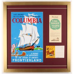 Disneyland Frontierland 22x23 Custom Framed Print Display with Postcard  Brochure