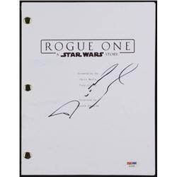 "Diego Luna Signed ""Star Wars: Rogue One"" Movie Script (PSA COA)"