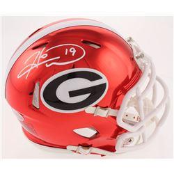 Hines Ward Signed Georgia Bulldogs Chrome Speed Mini-Helmet (Beckett COA)