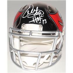 """Warren Sapp Signed Tampa Bay Buccaneers Chrome Speed Mini-Helmet Inscribed """"HOF-13"""" (Beckett COA)"""