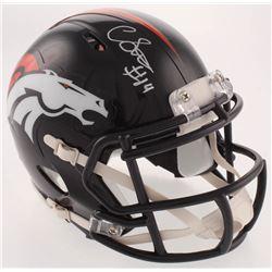 Courtland Sutton Signed Denver Broncos Speed Mini-Helmet (JSA COA)