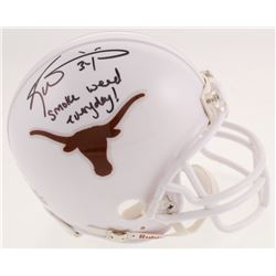 "Ricky Williams Signed Texas Longhorns Mini-Helmet Inscribed ""Smoke Weed Everyday!"" (JSA COA)"