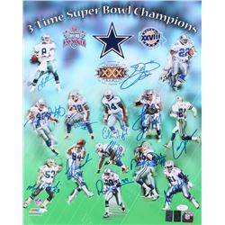 "Dallas Cowboys 16x20 Photo Team-Signed by (13) with Troy Aikman, Emmitt Smith, Michael ""Playmaker"" I"