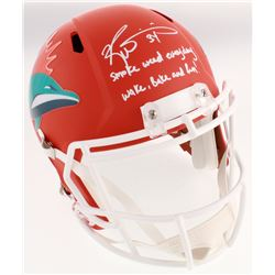 "Ricky Williams Signed Miami Dolphins Full-Size AMP Alternate Speed Helmet Inscribed ""Smoke Weed Ever"