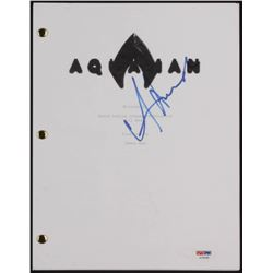 "Amber Heard Signed ""Aquaman"" Movie Script (PSA COA)"