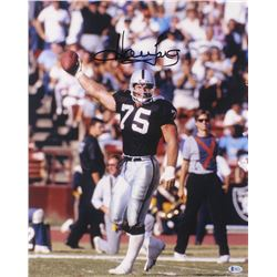 Howie Long Signed Oakland Raiders 16x20 Photo (Beckett COA)