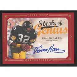 2008 UD Masterpieces Stroke Of Genius Autographs Framed Red #SOG36 Franco Harris